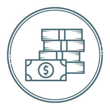 stack of banknotes Ilustração