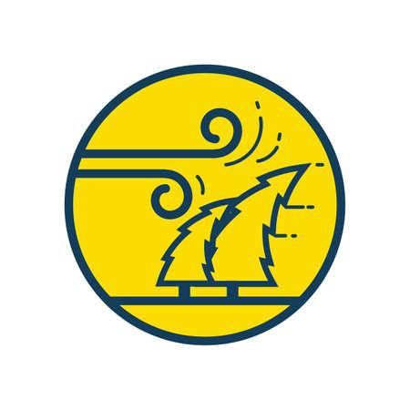 typhoon Иллюстрация