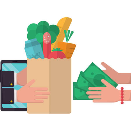 online food delivery concept Illustration
