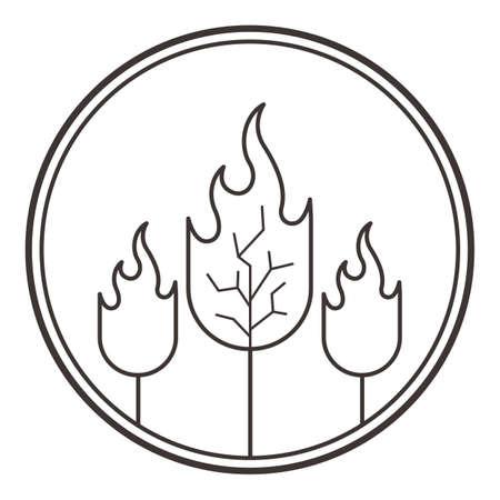 heat loss: forest fire