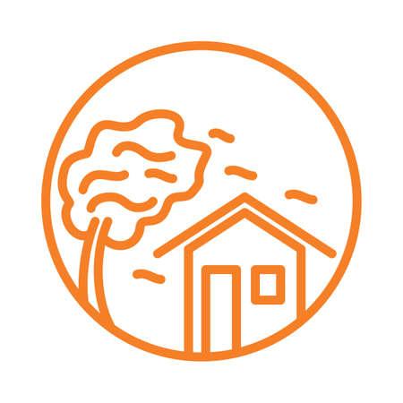 disaster: typhoon Illustration