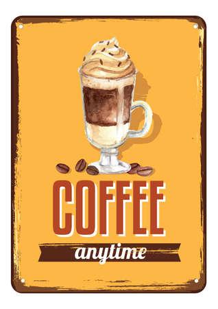 koffie ontwerpconcept Stock Illustratie