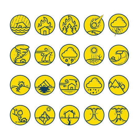 collection of disaster icons