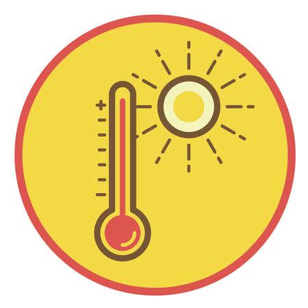 hot temperature 向量圖像
