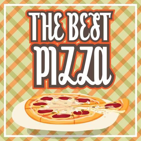 pizza design concept Illustration
