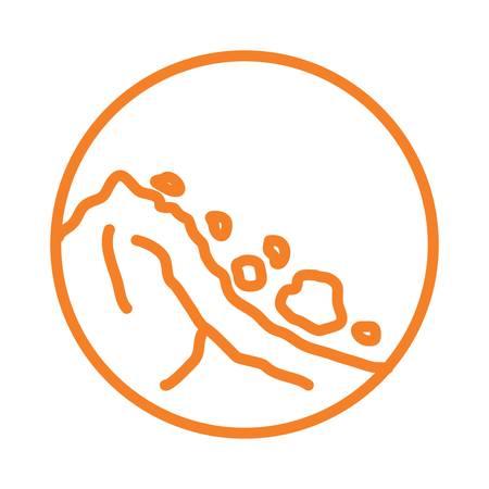 地すべり  イラスト・ベクター素材