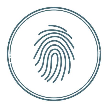 親指の指紋  イラスト・ベクター素材