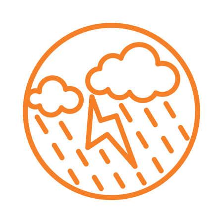 thunderstorm Reklamní fotografie - 79132255