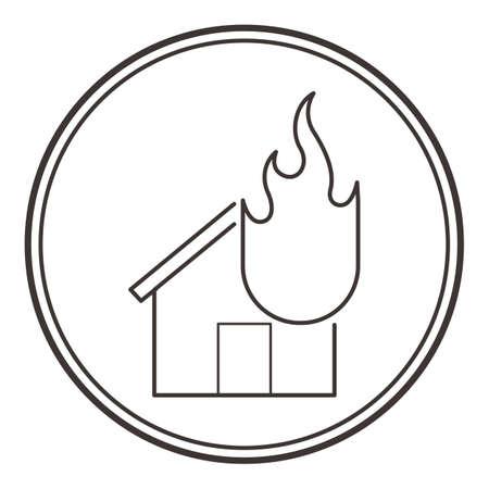 火の家 写真素材 - 79214382