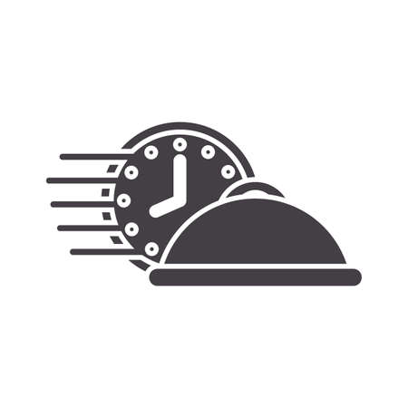 clock with cloche Illustration