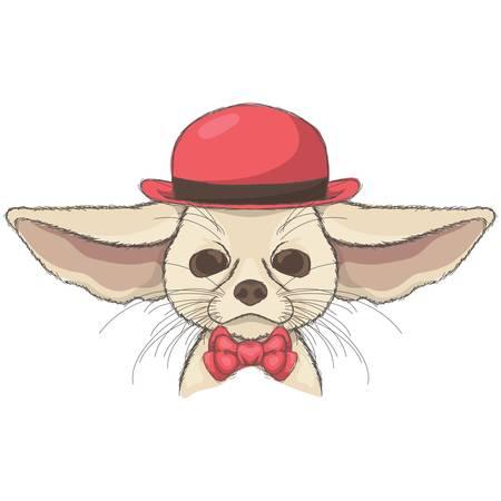 chihuahua character Illusztráció