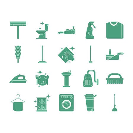 collection of cleaning icons