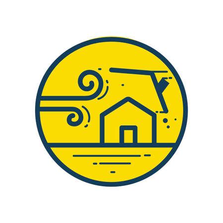 台風  イラスト・ベクター素材