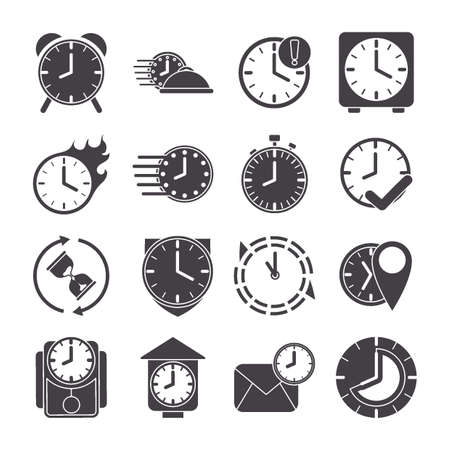 collection of clock icons Stock Vector - 79214407