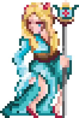 tovenares karakter Stock Illustratie