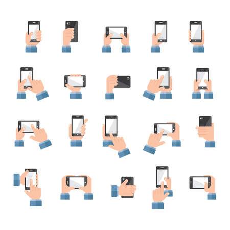 set van smartphone pictogrammen