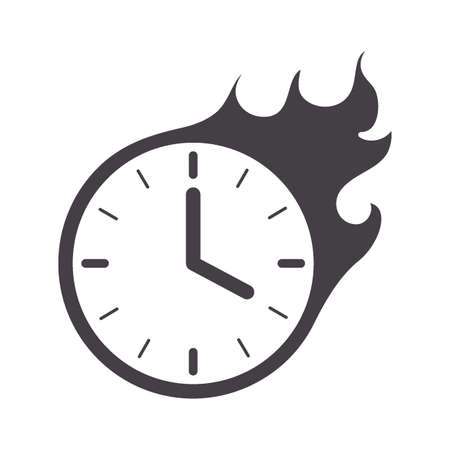clock on fire concept