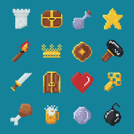 collection of gaming icons