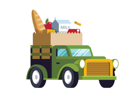 food delivery concept Stock Vector - 79214416