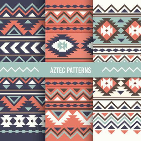 Conjunto de diseño de fondo azteca Foto de archivo - 79132312