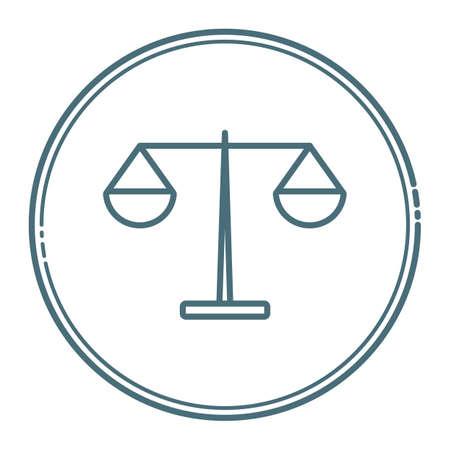 scales of justice Иллюстрация