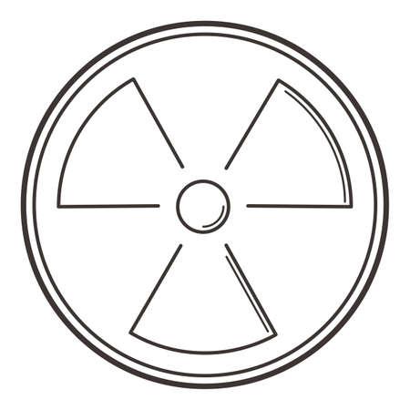 radioactief symbool