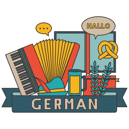 german concept design Illustration