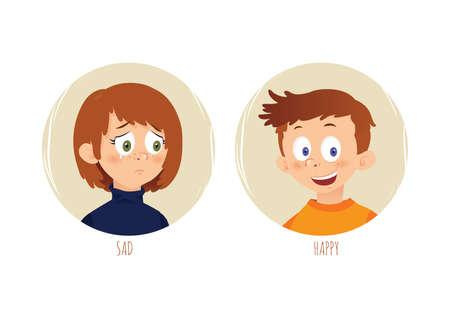 emotions concept Ilustração