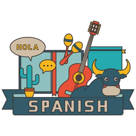 spanish concept design Иллюстрация