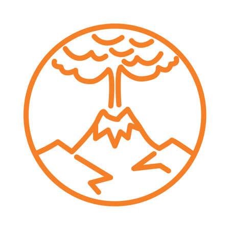火山の噴火  イラスト・ベクター素材