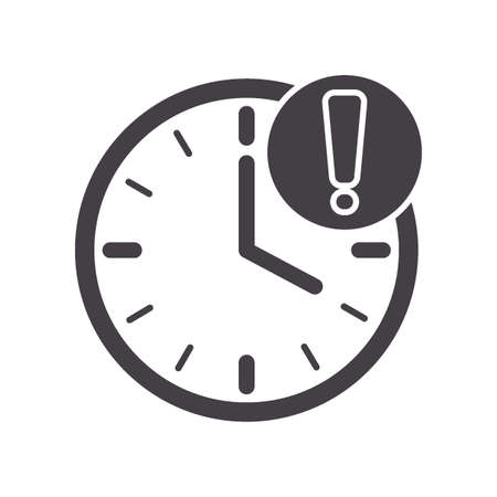 clock with exclamation mark Illustration