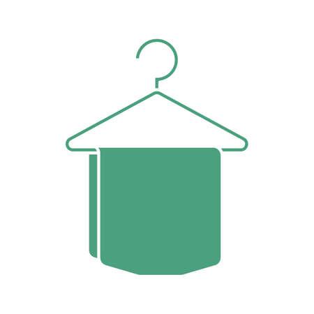 hanging towel Ilustração