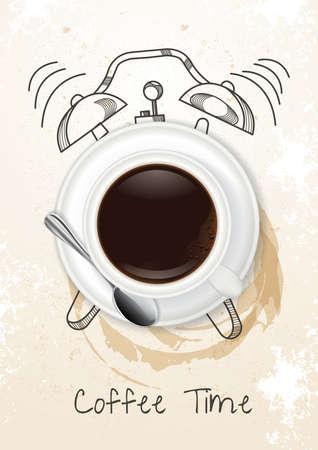 コーヒー時間の概念  イラスト・ベクター素材