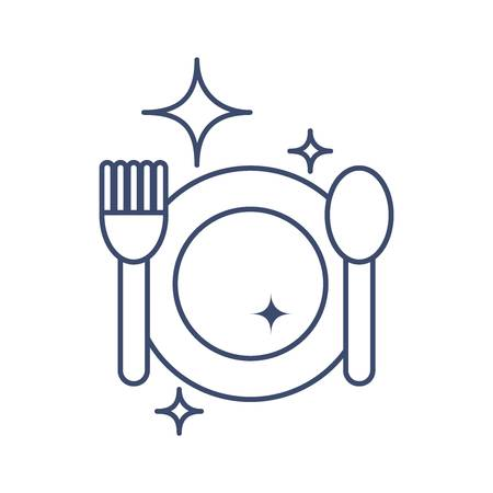 clean cutlery Illustration