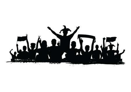 観衆の喝采  イラスト・ベクター素材