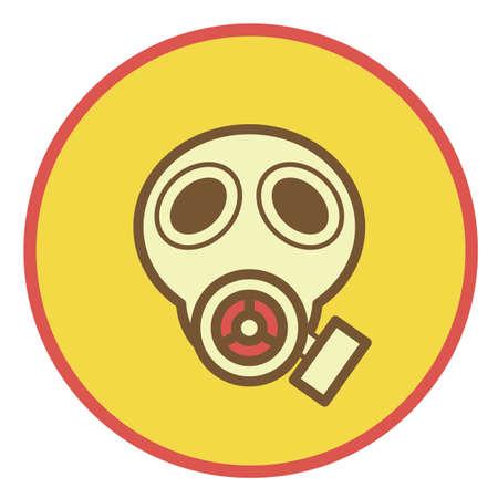 gas masker  Stock Illustratie