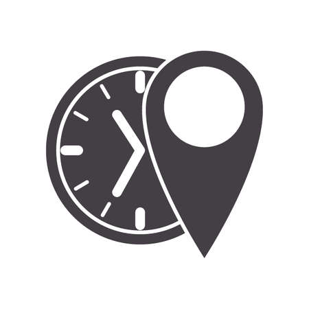clock with location indicator Stock Vector - 79214510