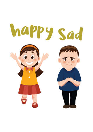 happy and sad concept