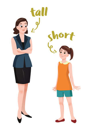 tall and short concept Ilustrace