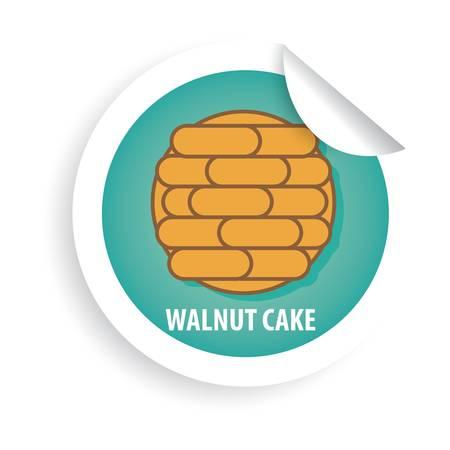 walnut cake Banco de Imagens - 79132498