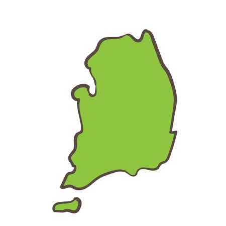 map of south korea Иллюстрация