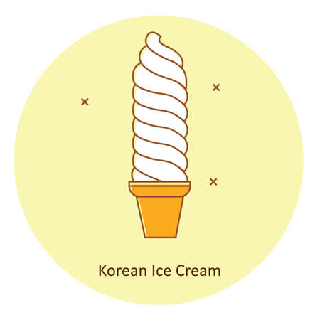 korean ice cream Иллюстрация