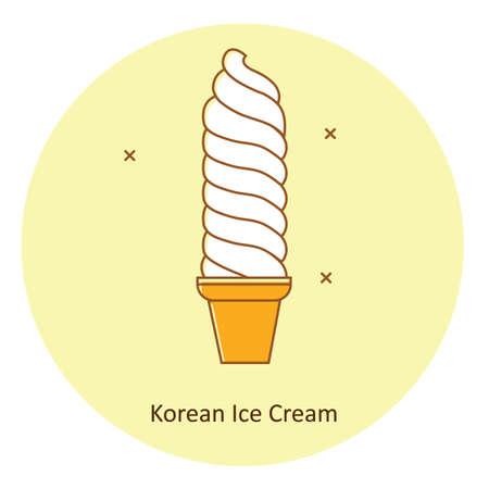 Sorvete coreano Foto de archivo - 79132512