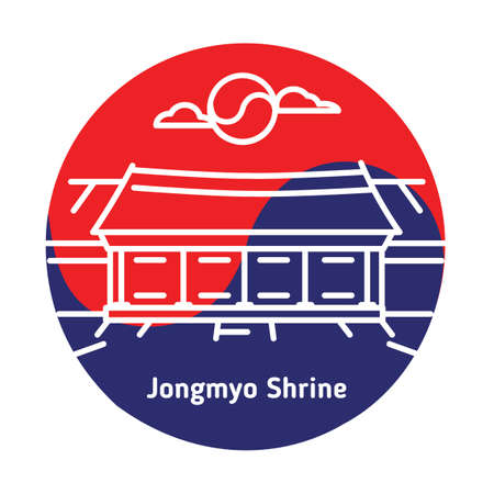 jongmyo shrine 矢量图片
