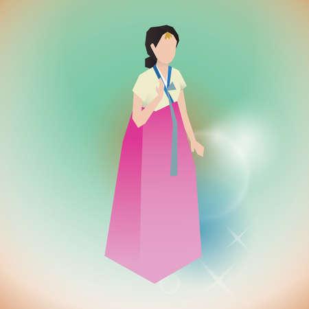 woman in traditional korean attire