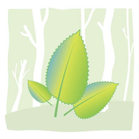 blad pictogram Stock Illustratie