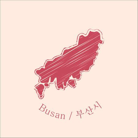 map of busan Illustration