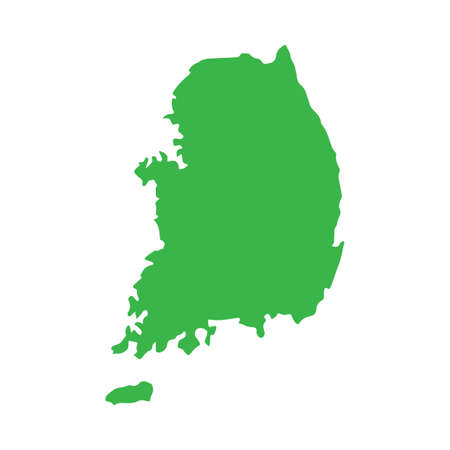 韓国の地図