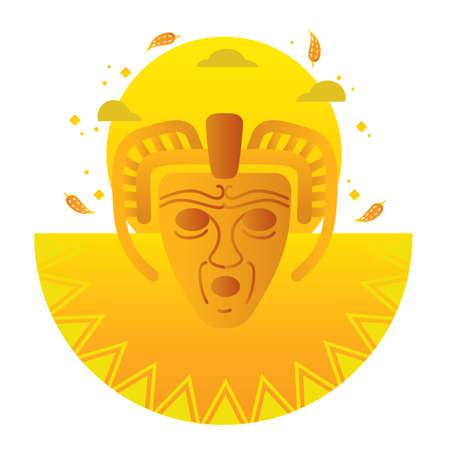 mayan masker Stock Illustratie