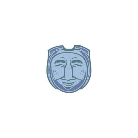 korean traditional mask design Ilustrace
